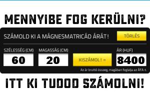 MatricaMágnes.hu - Számológép - Mennyibe kerül a mágnesmatrica?
